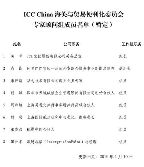 動態 | 熊斌先生受聘成為ICC China海關與貿易便利化委員會專家顧問組成員